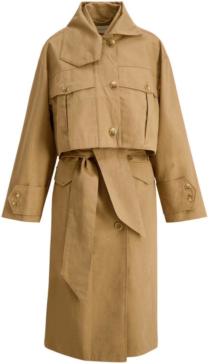 Beige Granateple Jacket  Holzweiler  Trenchcoats - Dameklær er billig